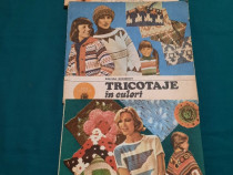 Lot 3 cărti tricotaje: goblenuri cu lasetă, tricotaje in cul