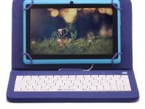 """Husa Tableta 9"""" Cu Tastatura Micro Usb Model X, Albastru C15"""