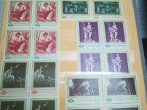 """Blocuri de 4 val """"Reproduceri arta"""" 1967-68"""