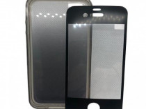 Husa telefon Silicon + Folie Apple iPhone 4 clear grey Orbyx
