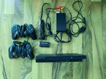 Playstation 2+2 manete+adaptor Ps2-Hdmi