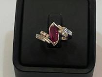 Inel cu rubin si diamante_32214