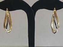 Cercei din aur 14k cu model Versace_32085