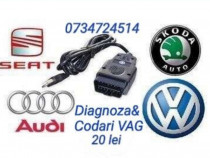 Codari / Diagnoza auto VCDS gama VAG VW AUDI SEAT SKODA