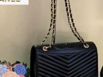 Genti Chanel new model ,logo metalic auriu