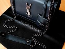 Geanta Ysl nrw model,accesorii/logo argintiu/Franta