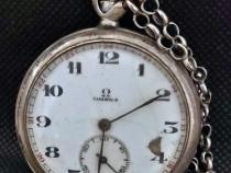 Ceas de buzunar vechi din argint Omega Grand Prix Paris 1900