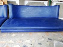 Canapea + fotolii albastre
