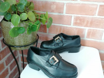 ASOS - pantofi piele naturala cu catarama aurie - marime 35