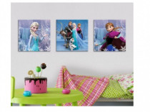 Tablou canvas Frozen Regatul de Gheata, 3 piese, nou