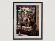 Goblen lucrat manual - Cuplu la cafenea