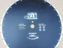 Disc diamantat segmentat 400 x 25,4 mm INTERVIS