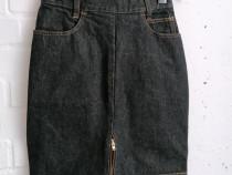 Fusta jeans Emanuel - talie inalta, marime XS/S - absolut su