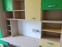 Biblioteca-sifonier cu birou