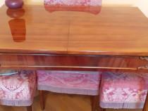 Masa extensibila lemn + 4 scaune