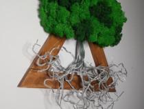 Wire tree - copac cu licheni în stil scandinav