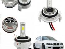 Set adaptor becuri H7 LED HID BMW E46 seria 3 bec xenon