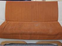 Canapea extensibila; Pat cu Lada si Saltea 195x115 cm