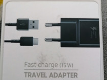 Încărcător fast charge samsung mufă typ c, nou nouț.