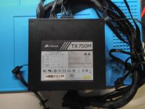 Sursa Corsair TX750M, 80+ Gold, 750W, Eficienta 90%, cabluri