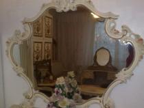 Oglinda vintage antic,baroc venetian shabby rococo,lemn