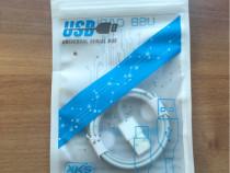 Cablu iphone/ipad/ipod + Husă de transport cadou