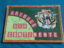 Joc vechi românesc* animale din continente* stas 1963/