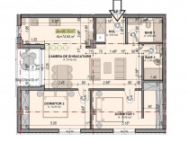 Apartament 3 cam. 2bai 75mp+balcon 4mp la alb turnisor