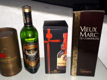 4 sticle whisky, brandy,rachiu
