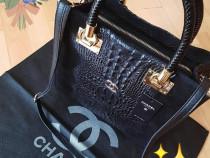 Geanta Chanel piele naturală 100%,insertii snake