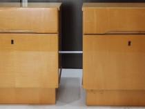 3 buc Noptiera cu sertar si usa; Mic dulap de dormitor