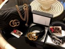 Set Gucci(geanta+portofel +curea),logo auriu/Italia
