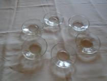 Set vechi compus din 6 farfurioare pentru servit dulceata