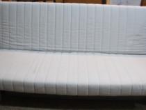 Canapea Extensibila tip Ikea; Pat cu cadru de fier si Saltea