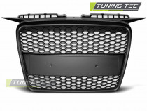 Grila tuning fara emblema Audi A3 8P RS Style negru mat NOU