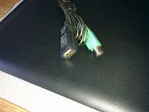 Cablu adaptor mufa tastatura-usb