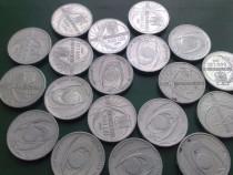 19 Monede vechi,necirculate cu valoare nominala de 500 lei
