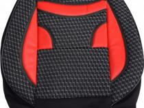 Huse scaune auto ECO Negru + Rosu ( 11piese )