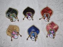 Marturii nunta/botez Mini masti venetiene Cercei & Carnaval