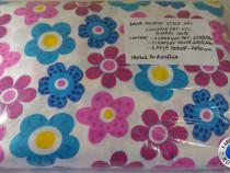 Lenjerie de pat XXL 100% bumbac - Flori Multicolore