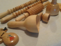 Maderoterapie instrumente din lemn anatomic pentru masaj