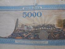 Bancnota 100 lei si 5000 lei