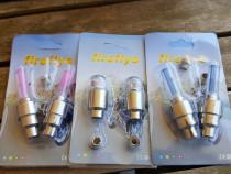 Set 2 leduri pt ventil bicicleta,luminoase,multicolore,noi
