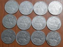 Lot 12 monede 25 bani 1966