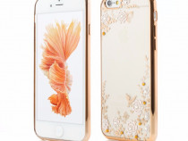 Husa silicon iphone 6 iphone 6s gold flower vetter produs no
