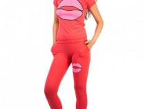 "Trening/ set sport ""Play Lips"" Pink + CADOU"