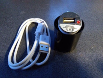 Incarcator telefon auto cu cablu usb micro usb