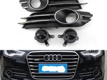 Set grile bara crom cu ACC decorativ pt Audi A6 4G