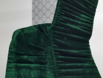 Huse elastice catifea verde