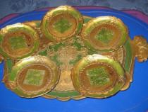 283-Set de servit- tavita cu 5 farfurioare din rasina